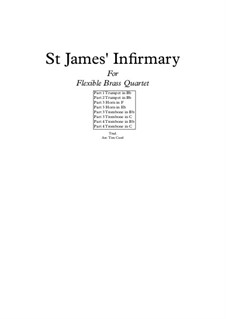 St. James Infirmary: For flexible brass quartet by folklore
