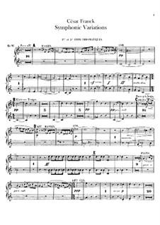 Symphonic Variations, M.46: Horns parts by César Franck