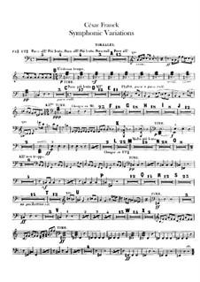 Symphonic Variations, M.46: Timpani parts by César Franck