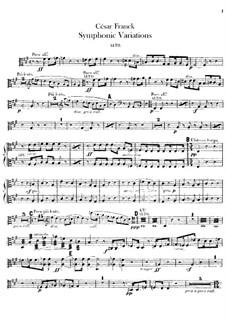 Symphonic Variations, M.46: Violas parts by César Franck