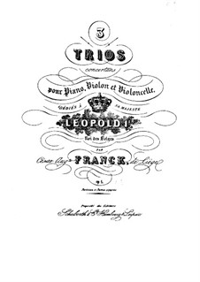 Three Concert Trios for Violin, Cello and Piano, Op.1: Trio No.3 in D Major – cello part by César Franck