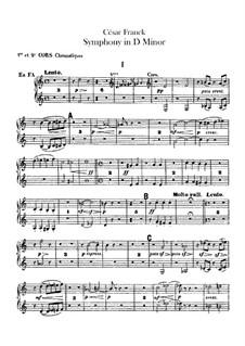Simphony in D Minor, Op.48: Horns parts by César Franck