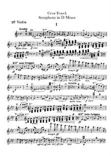 Simphony in D Minor, Op.48: Violin I part by César Franck