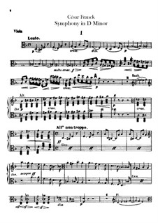 Simphony in D Minor, Op.48: Viola part by César Franck