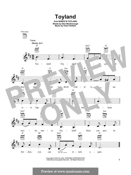 Babes in Toyland: Toyland, for ukulele by Victor Herbert