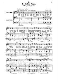 Six Songs, Op.16: No.1 Du liebes Auge (Thou Gentle Gazer) by Robert Franz