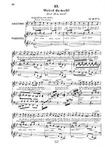Six Songs, Op.16: No.5 Weisst du noch (Dost thou Mind) by Robert Franz