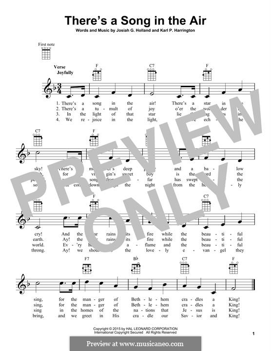 There's a Song in the Air: For ukulele by Karl P. Harrington