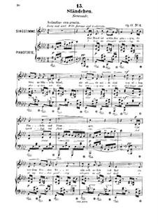 Six Songs, Op.17: No.2 Ständchen (Serenade) by Robert Franz