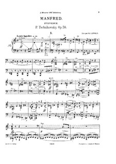 Manfred Symphony, TH 28 Op.58: For piano by Pyotr Tchaikovsky