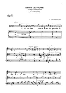 The Snow Maiden: Arioso of Snow Maiden by Nikolai Rimsky-Korsakov