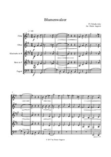 No.8 Waltz of the Flowers: For wind ensemble by Pyotr Tchaikovsky