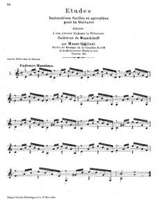 Twenty-Four Etudes for Guitar, Op.100: Etudes No.1-2 by Mauro Giuliani