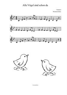 Alle Vögel sind schon da: Für Trompete by folklore