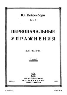 Bassoon-Studies, Op.8: Volume I by Julius Weissenborn