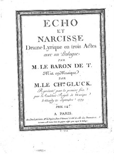 Echo et Narcisse (Echo and Narcissus): Overture and prologue by Christoph Willibald Gluck