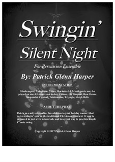Silent Night (Downloadable): For percussion ensemble by Franz Xaver Gruber