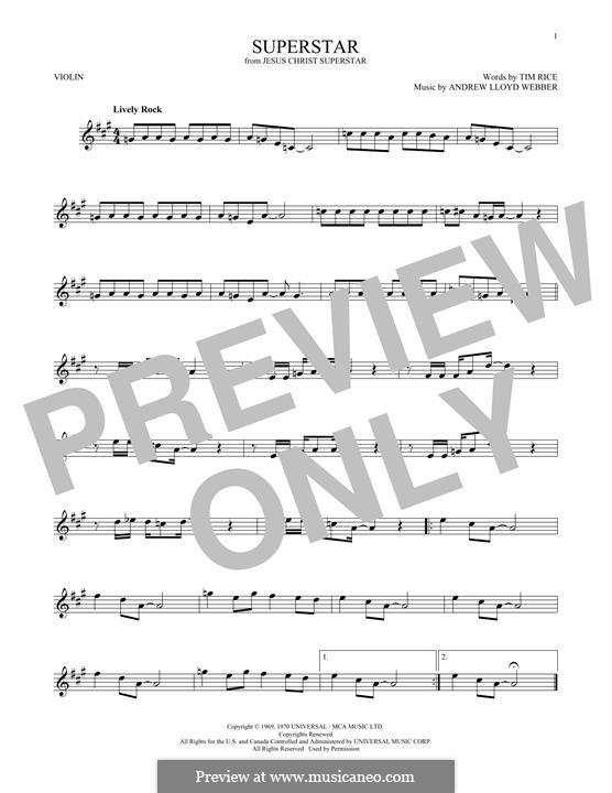Superstar: For violin by Andrew Lloyd Webber