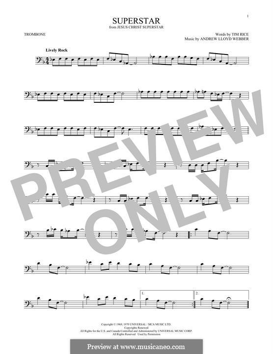 Superstar: For trombone by Andrew Lloyd Webber