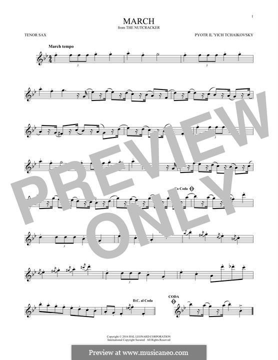 No.2 March: For tenor saxophone by Pyotr Tchaikovsky