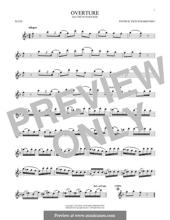 No.1 Miniature Overture : For flute by Pyotr Tchaikovsky