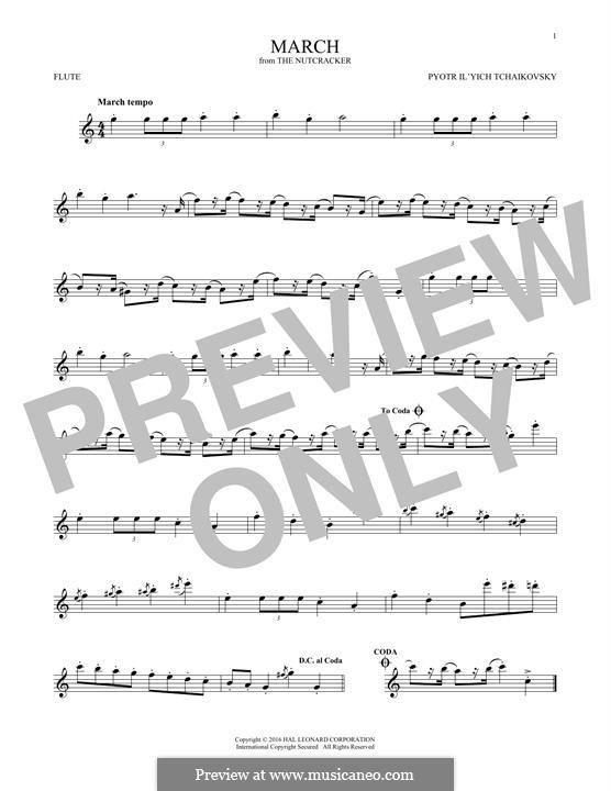 No.2 March: For flute by Pyotr Tchaikovsky