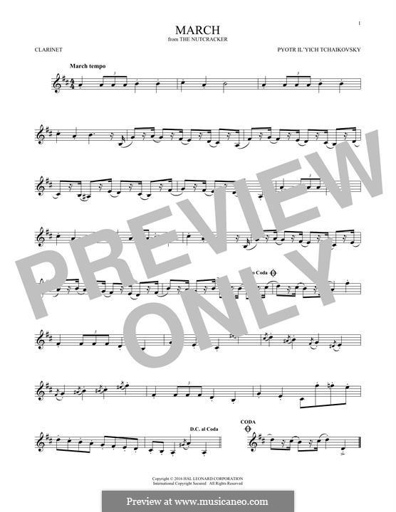No.2 March: For clarinet by Pyotr Tchaikovsky