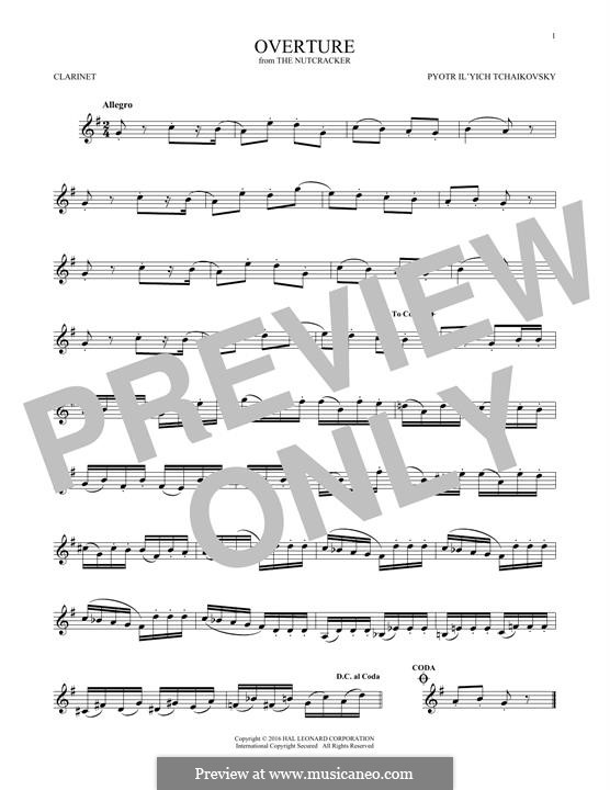 No.1 Miniature Overture : For clarinet by Pyotr Tchaikovsky