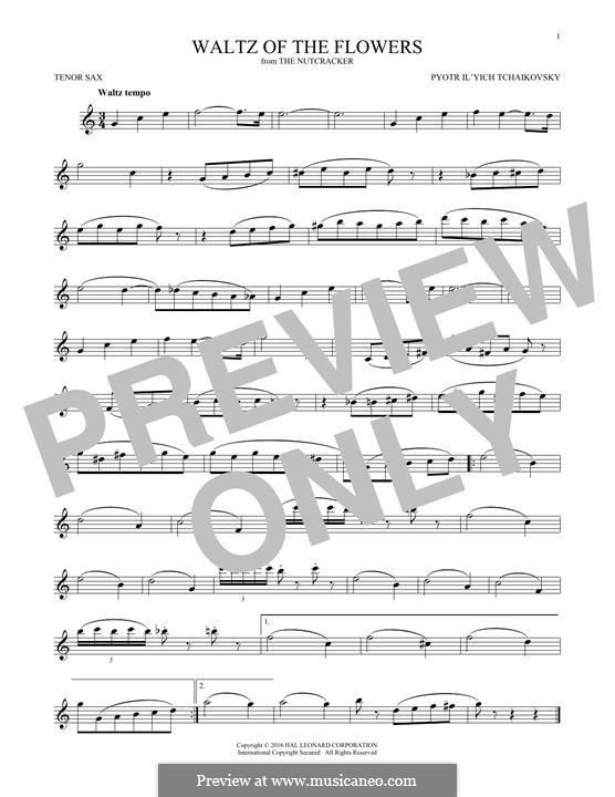 No.8 Waltz of the Flowers: For tenor saxophone by Pyotr Tchaikovsky