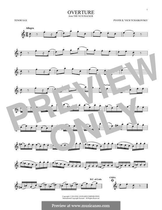 No.1 Miniature Overture : For tenor saxophone by Pyotr Tchaikovsky