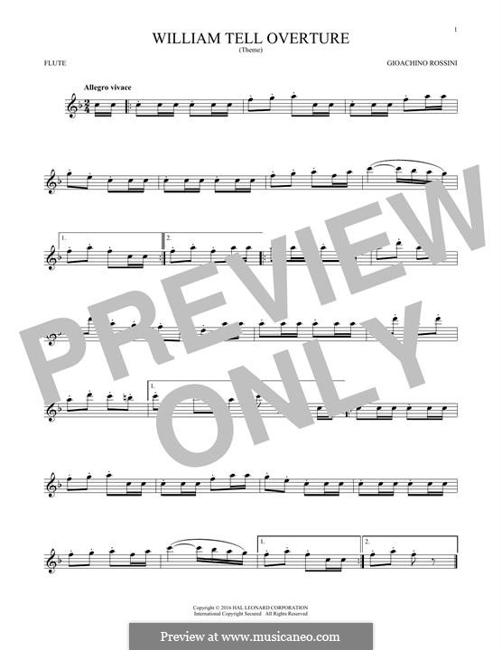 Overture: For flute by Gioacchino Rossini