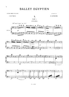 Ballet égyptien, Op.12: Five movements. For two pianos eight hands – piano II parts by Alexandre Luigini