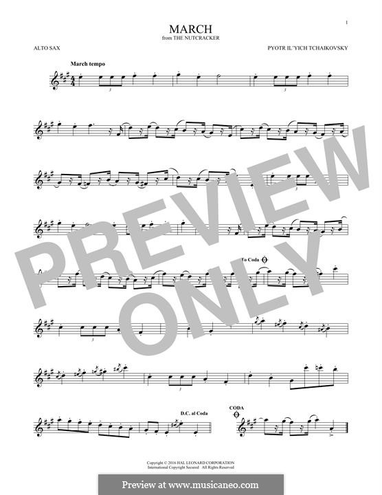 No.2 March: For alto saxophone by Pyotr Tchaikovsky