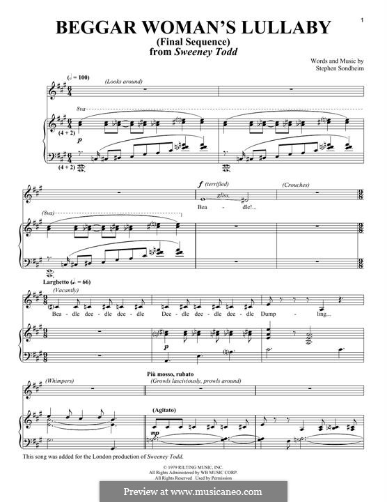 Beggar Woman's Lullaby (Final Sequence): For voice and piano by Stephen Sondheim
