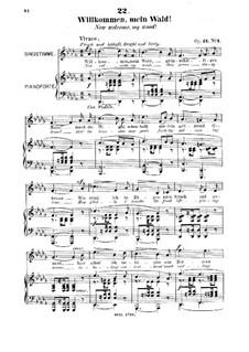 Six Songs, Op.21: No.1 Willkommen, mein Wald (Now Welcome, My Wood) by Robert Franz