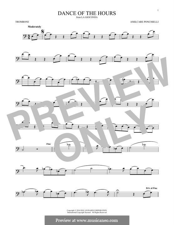 La Gioconda: Dance of the Hours. Version for trombone by Amilcare Ponchielli