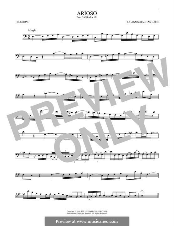 Arioso in G Major: For trombone by Johann Sebastian Bach