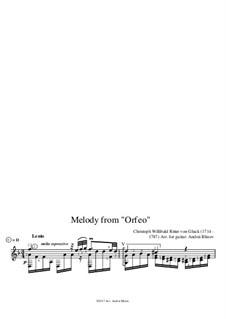 Melody: For guitar by Christoph Willibald Gluck