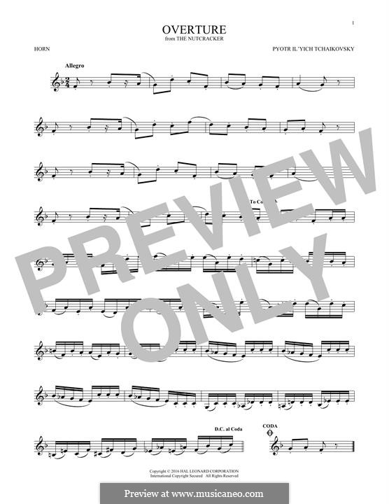No.1 Miniature Overture : For horn by Pyotr Tchaikovsky
