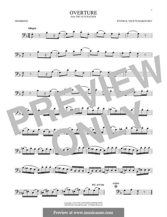 No.1 Miniature Overture : For trombone by Pyotr Tchaikovsky