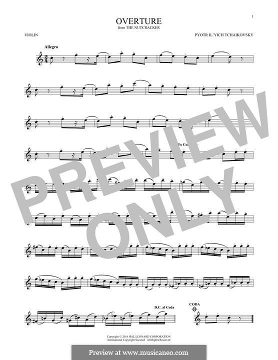 No.1 Miniature Overture : For violin by Pyotr Tchaikovsky