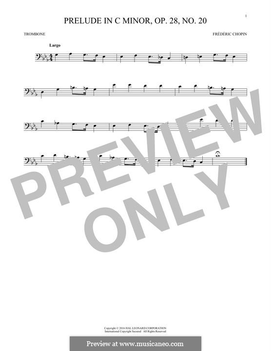 No.20 in C Minor: For trombone by Frédéric Chopin