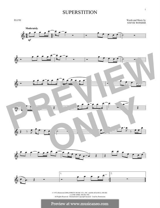 Superstition: For flute by Stevie Wonder