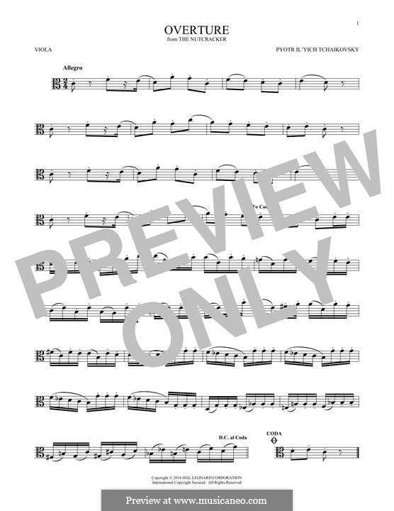 No.1 Miniature Overture : For viola by Pyotr Tchaikovsky