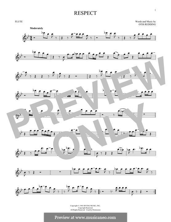Respect (Aretha Franklin): For flute by Otis Redding
