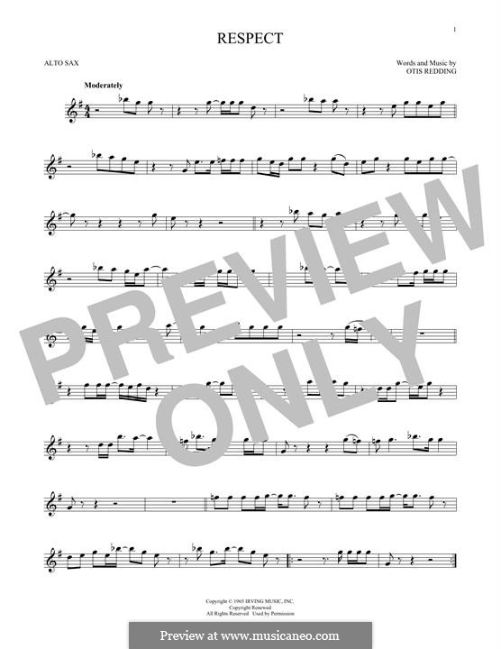 Respect (Aretha Franklin): For alto saxophone by Otis Redding