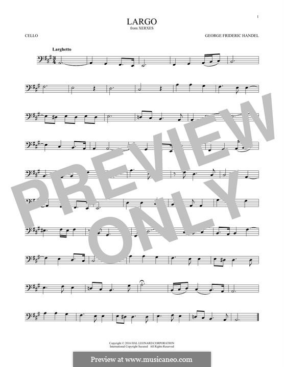 Largo: For cello by Georg Friedrich Händel