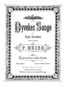 Dyvekes Sange: For high voice and piano (Danish version) by Peter Heise