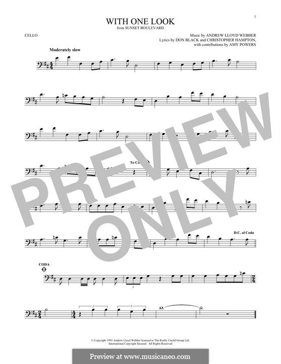 With One Look: For cello by Andrew Lloyd Webber