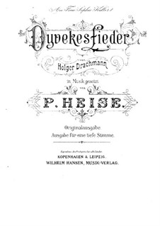 Dyvekes Sange: For high voice and piano (German version) by Peter Heise